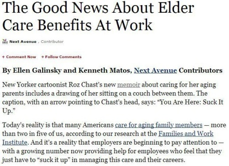 Employees May Seek Cook County Elder Care Benefits from Employers
