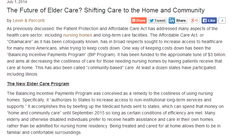 the future for eldercare
