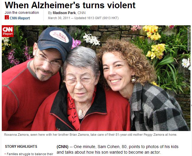 when alzheimers turns violent
