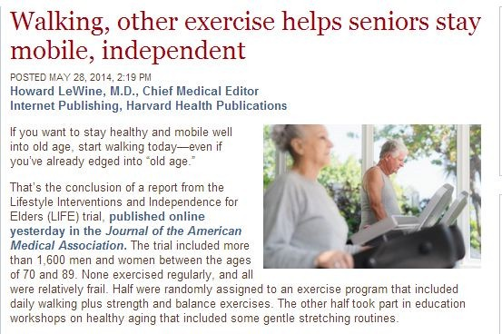 walking other exercise helps seniors stay mobile independent